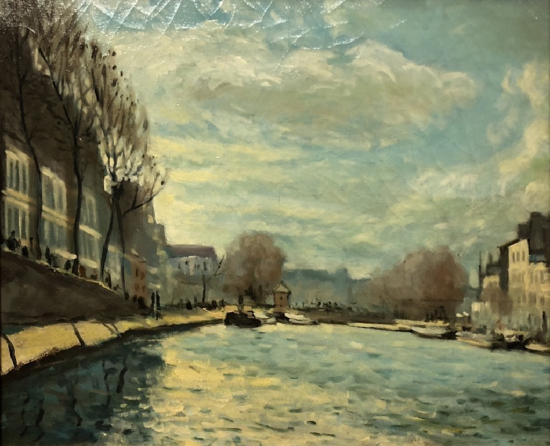 Oil on Canvas Riverscape - 2
