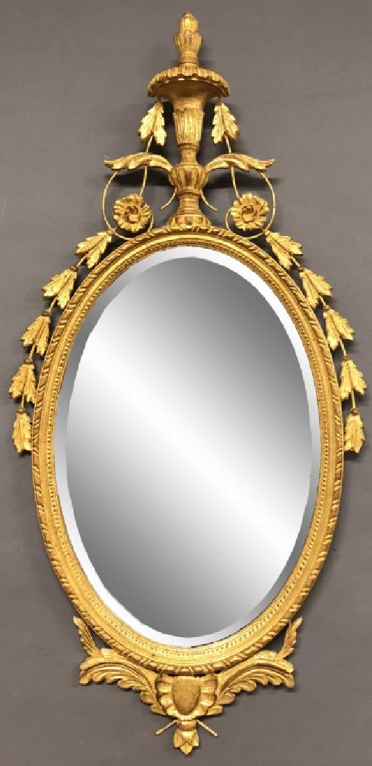 LaBarge Gilt Decorated Adams Style Mirror