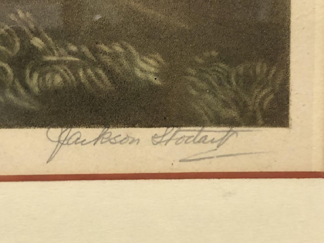 """Edward Jackson Stodart Signed Engraving """"Pinkie"""" - 3"""