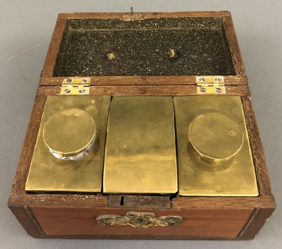 Georgian Satinwood Inlaid Tea Caddy - 2