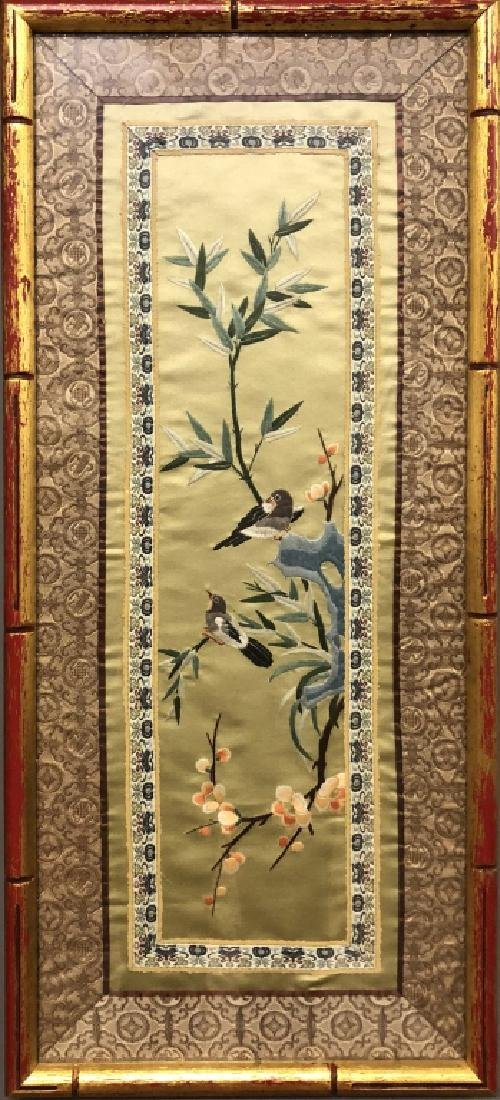 Chinese Painting on Silk & Silkwork of Birds - 3