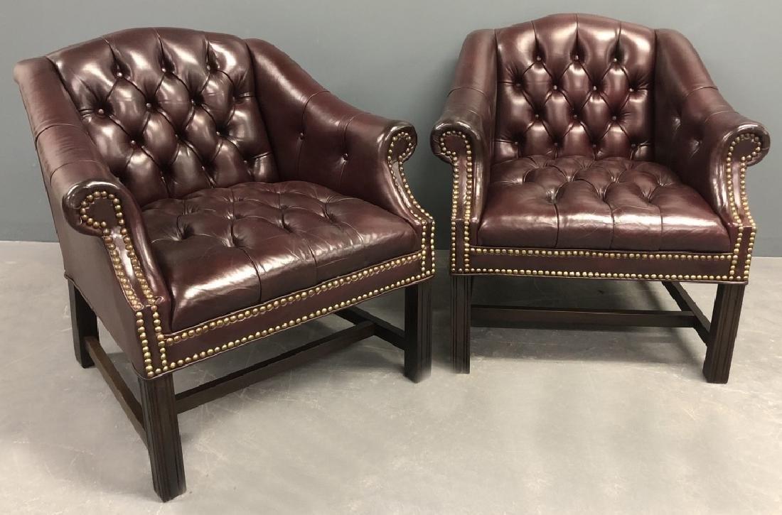 Hancock & Moore Leather Shark Tank Club Chairs