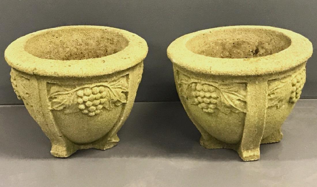 Pair of Cast Stone Planters