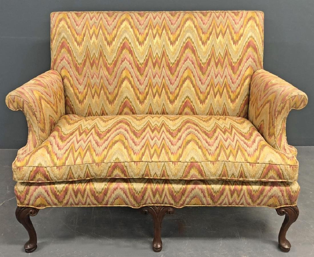 Southwood Queen Anne Style Flame Stitch Settee
