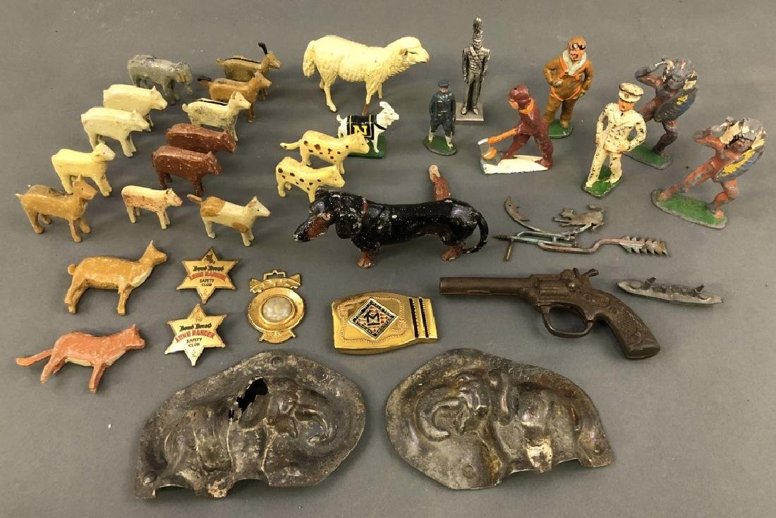 Small Wood and Metal Toy Animals