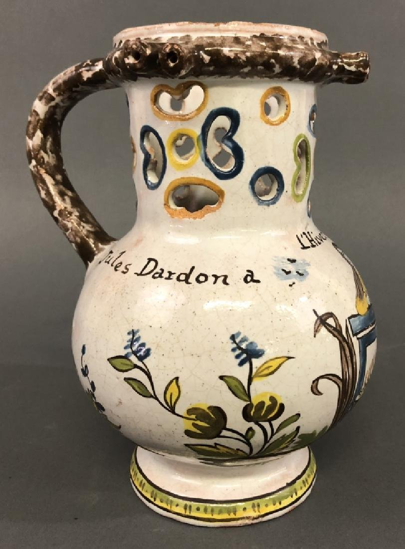 Colorful Faience Puzzle Jug