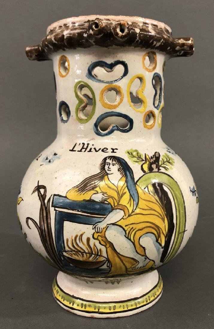 Colorful Faience Puzzle Jug - 2