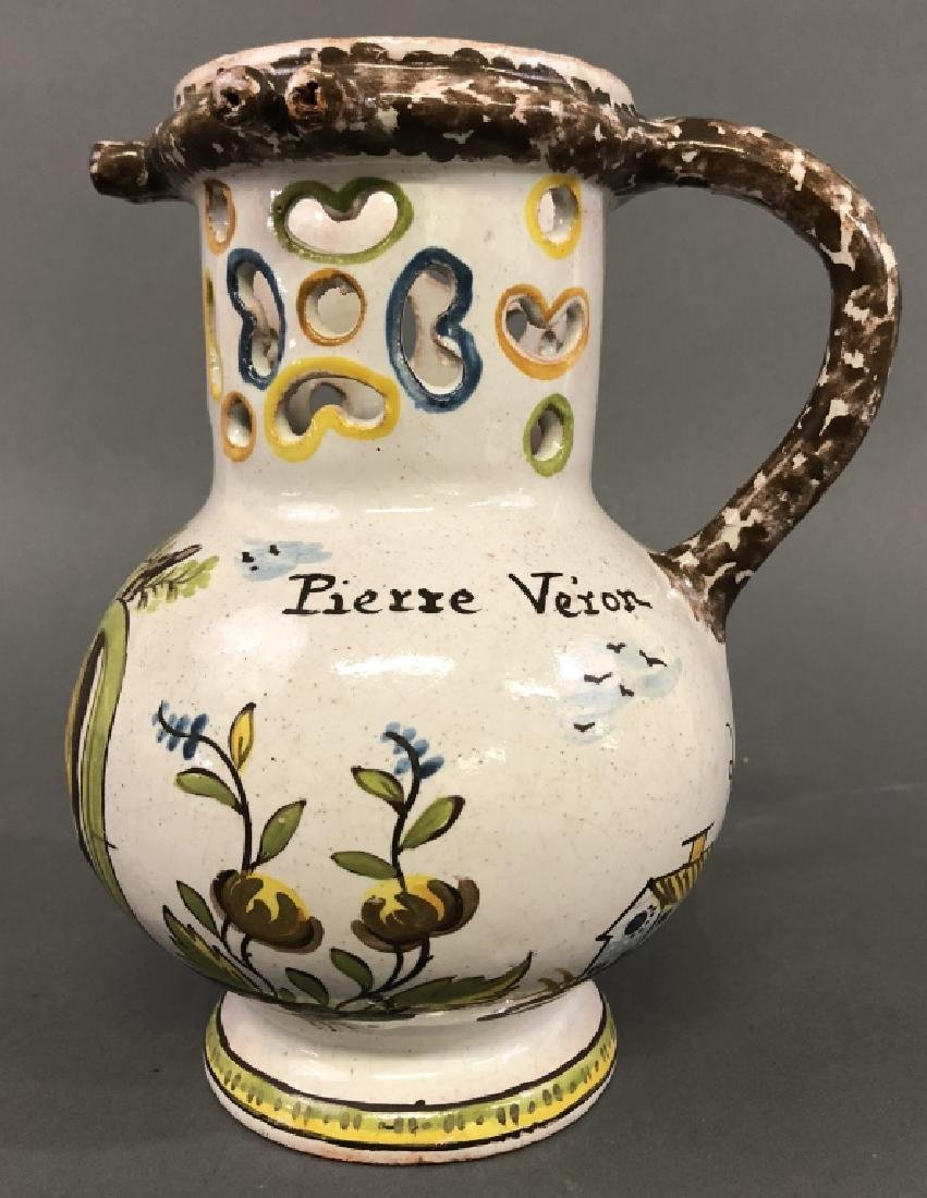 Colorful Faience Puzzle Jug - 3