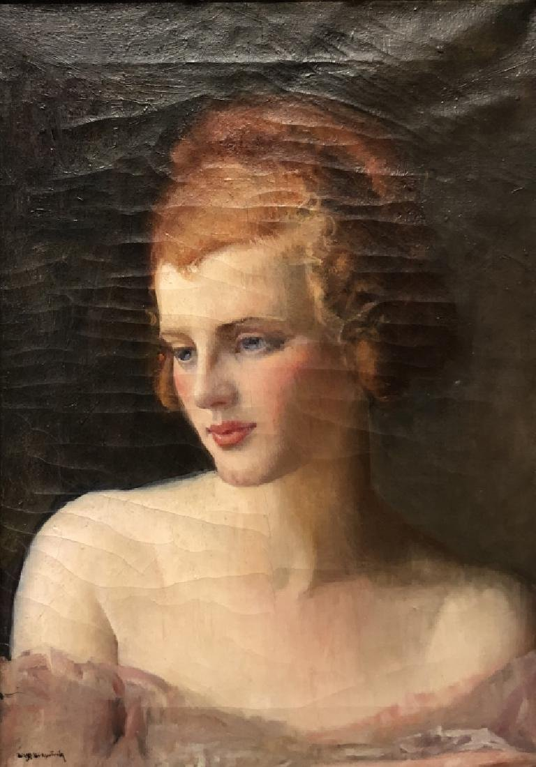 Kirkpatrick Portrait of a Woman with Red Hair - 2