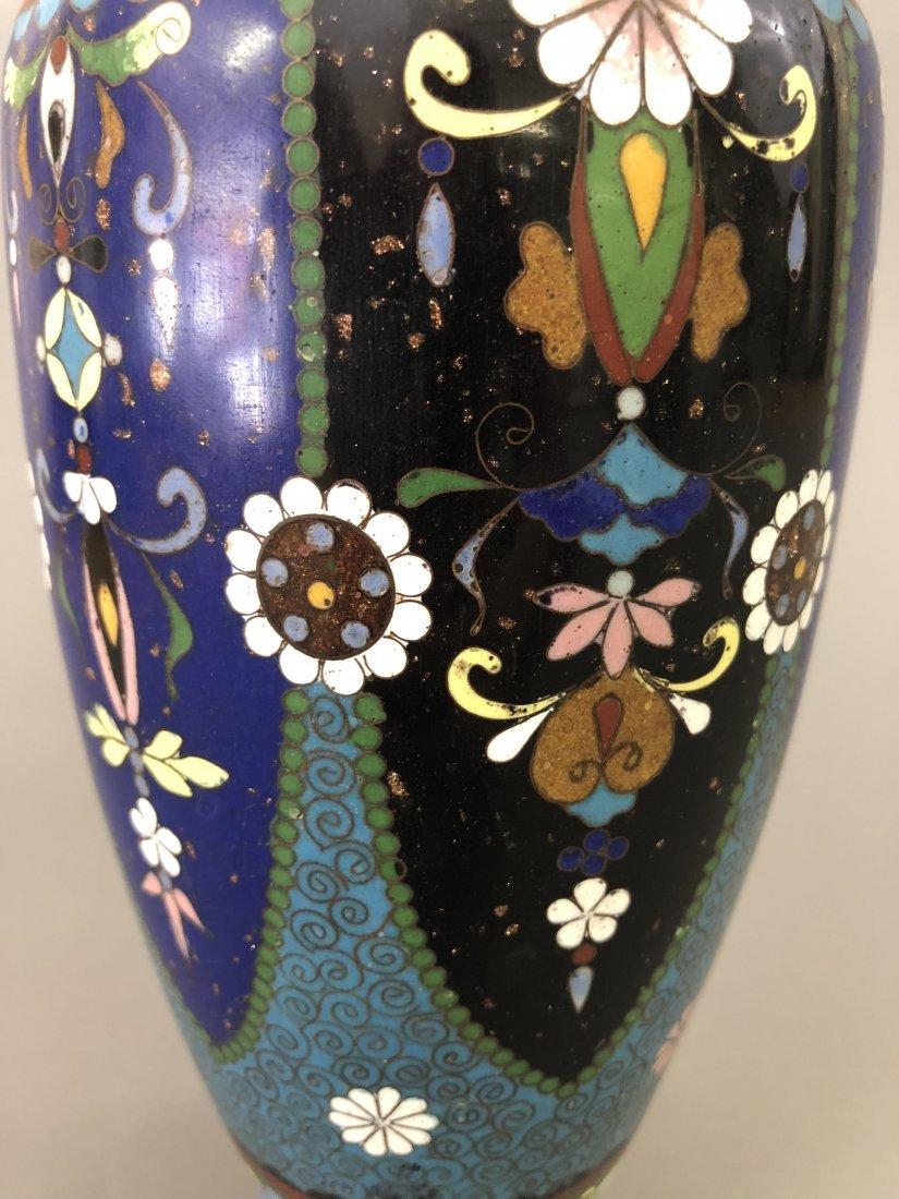 Six Cloisonne Vases - 5