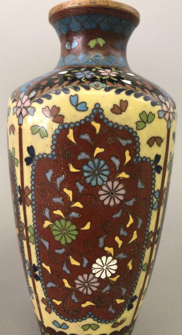 Six Cloisonne Vases - 6