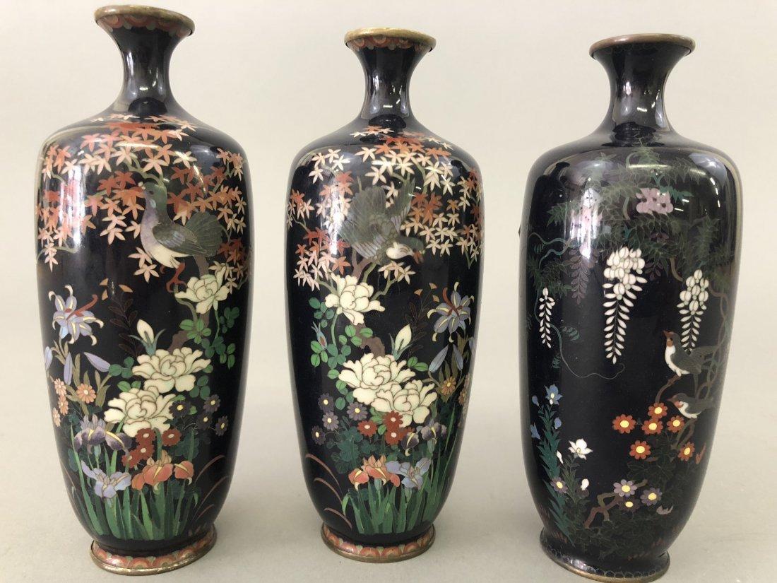 Six Cloisonne Vases - 8