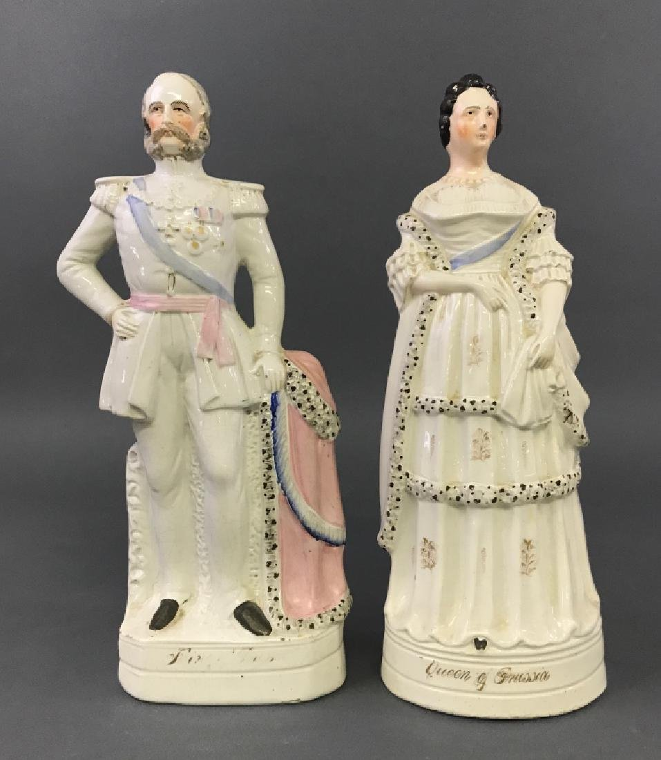 Large Staffordshire King & Queen of Prussia