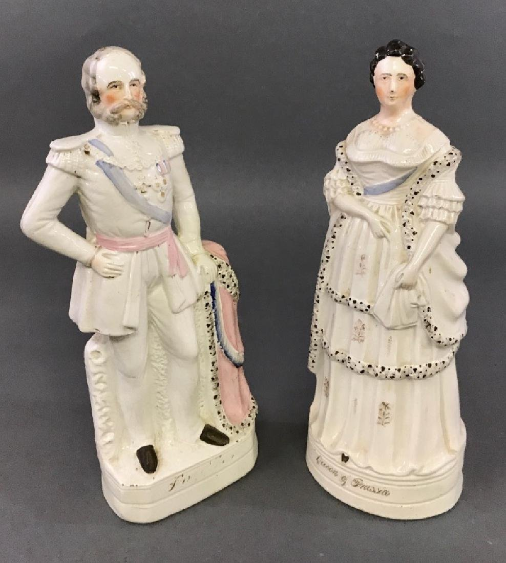 Large Staffordshire King & Queen of Prussia - 2