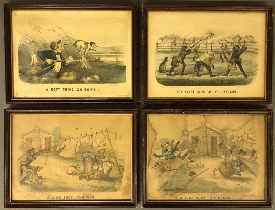 Four Currier & Ives Prints