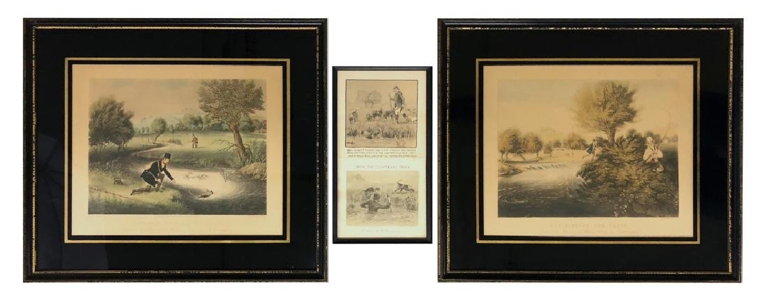 Two Fishing Prints and a Snaffles Print