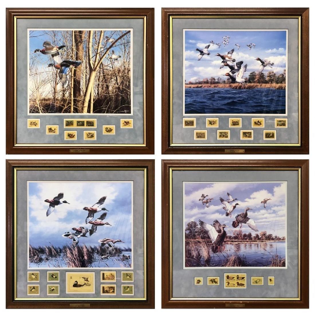Four David Maass Duck Prints
