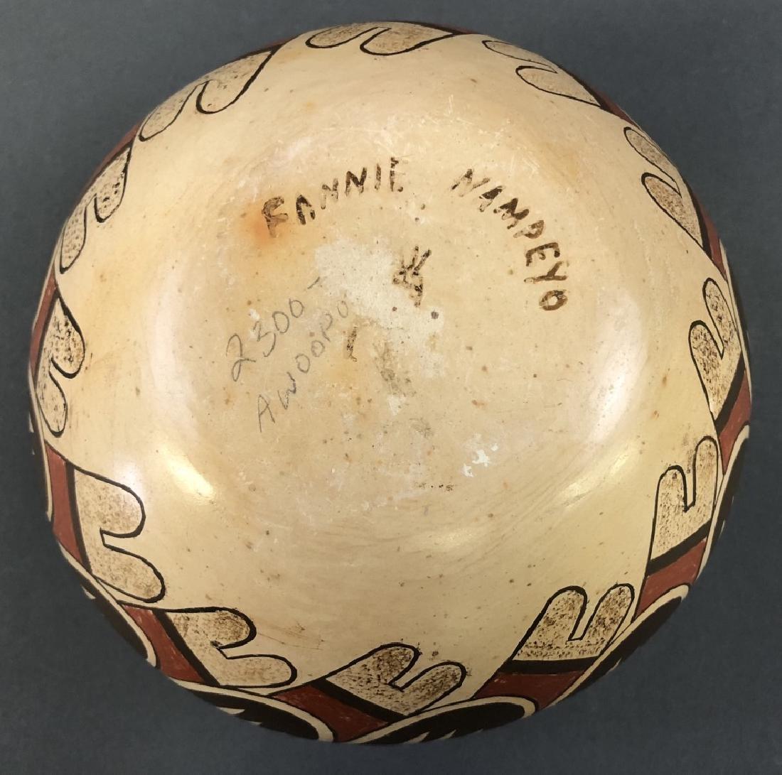 Fannie Nampeyo Signed Hopi Tewa Bowl - 2