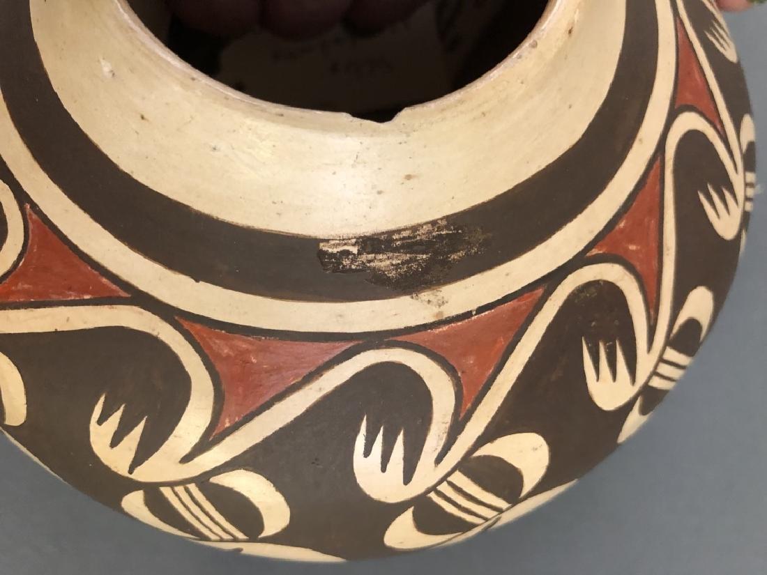 Fannie Nampeyo Signed Hopi Tewa Bowl - 3