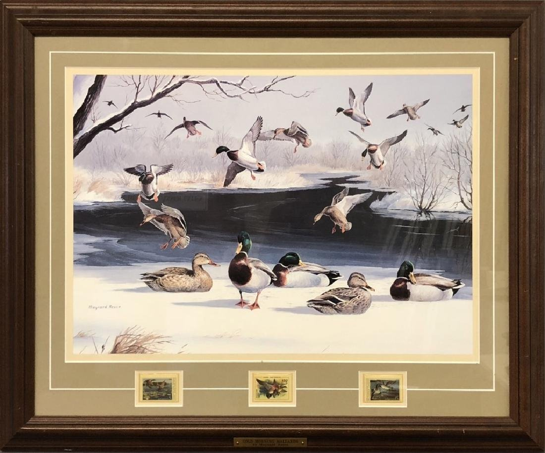 Four Maynard Reece Duck Prints with Stamps - 4