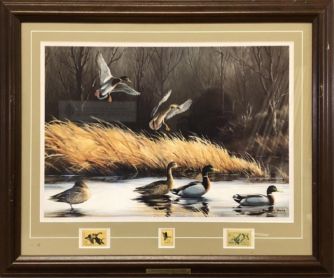 Four Maynard Reece Duck Prints with Stamps - 5