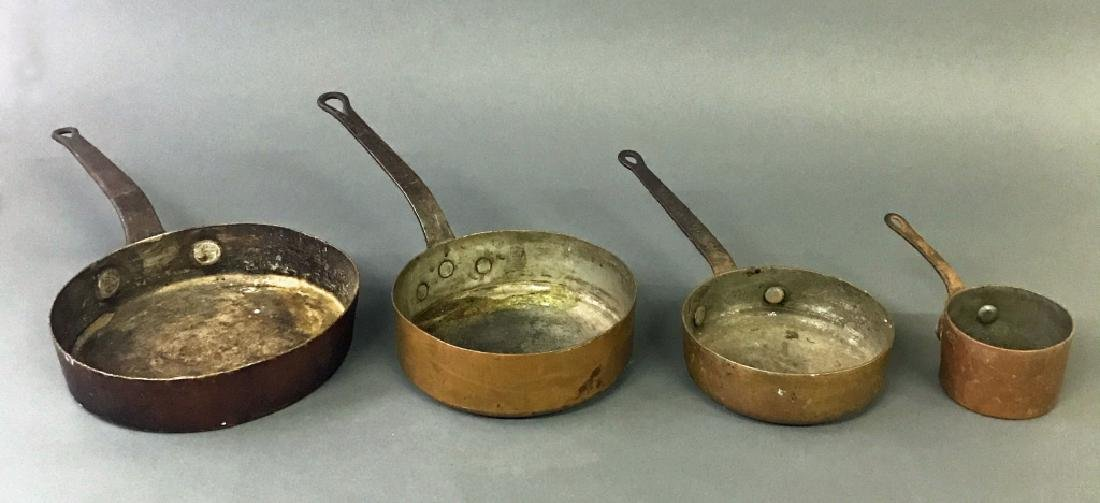 Four Copper / Iron Pans