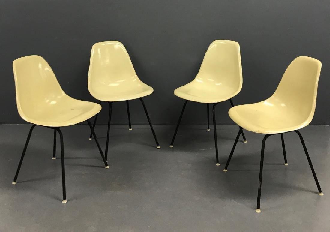 Four Herman Miller Eames Chairs