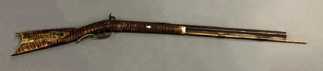 Maple Percussion Stock Rifle, 19th c - 2