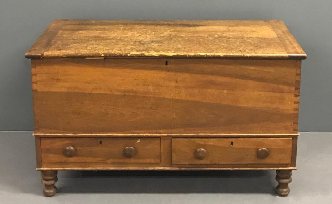 Poplar Blanket Chest with Two Drawers