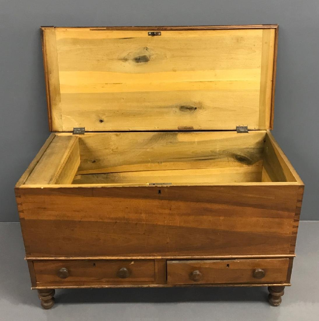 Poplar Blanket Chest with Two Drawers - 3