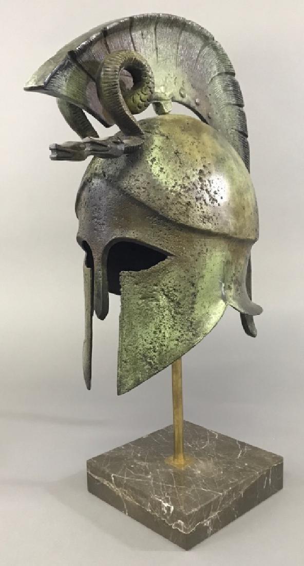 Replica Greek Helmet with Twin Serpent Crest