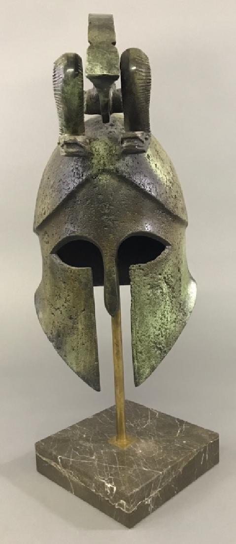 Replica Greek Helmet with Twin Serpent Crest - 2