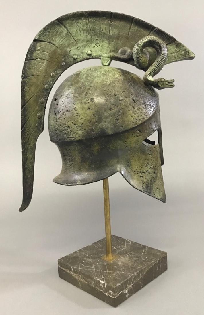 Replica Greek Helmet with Twin Serpent Crest - 3