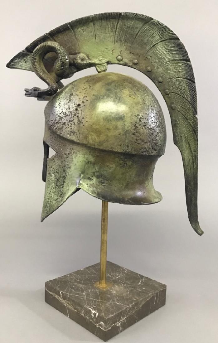 Replica Greek Helmet with Twin Serpent Crest - 4