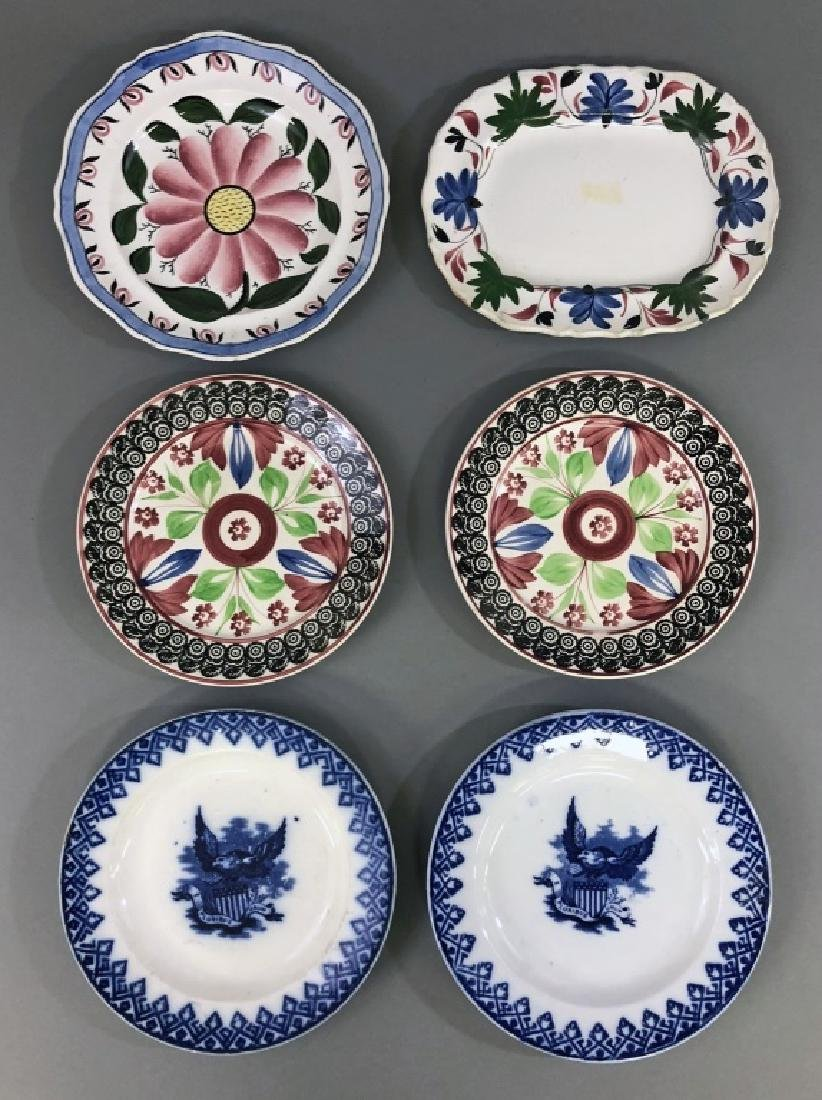 Pottery Plates and Small Platter
