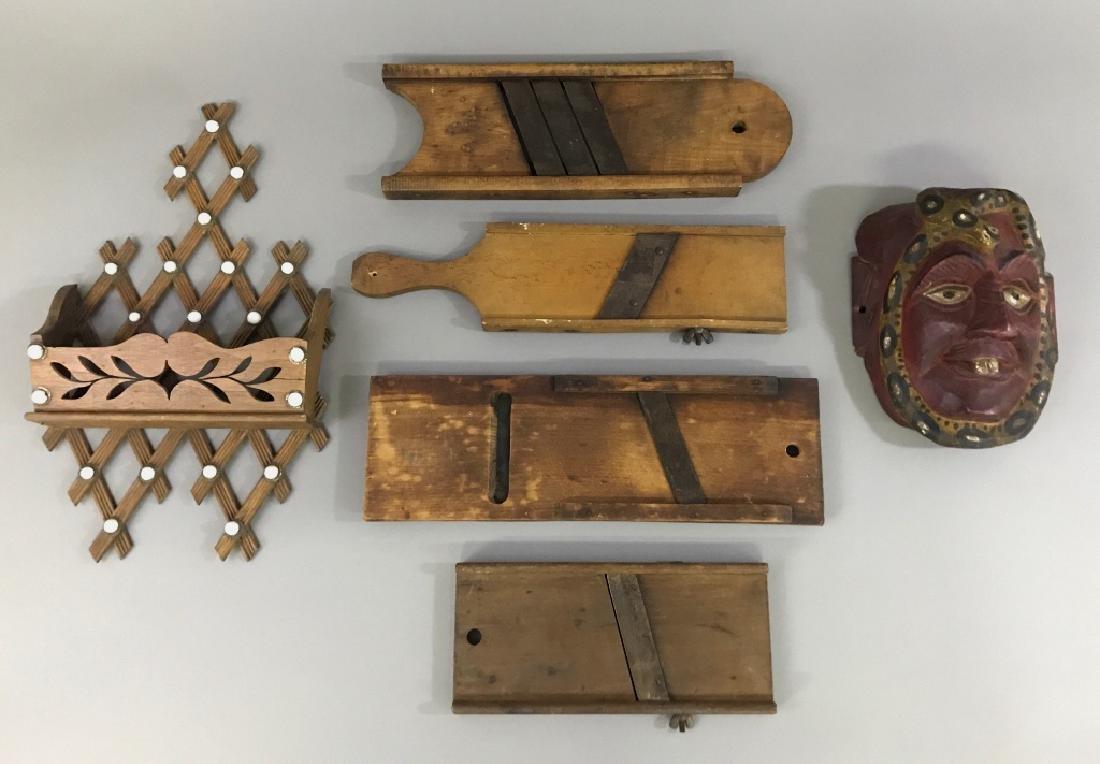 Victorian Wall Pocket, Mandolines, and a Mask