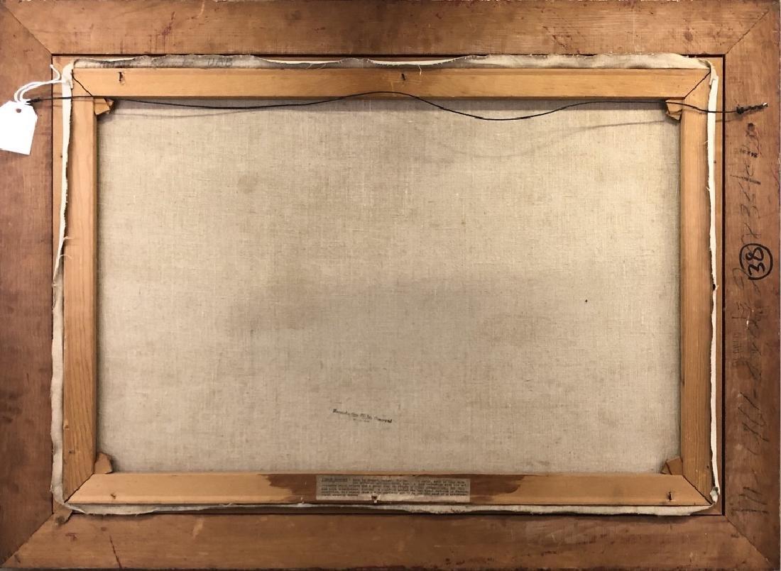 Wiktor Korecki Oil on Canvas Winter Farm Scene - 4
