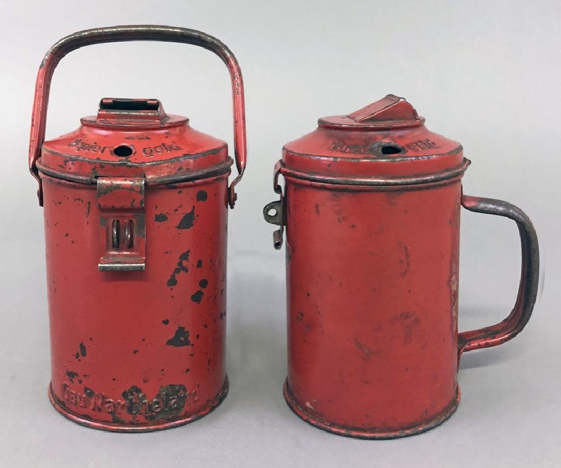 Two Red Charity Cans