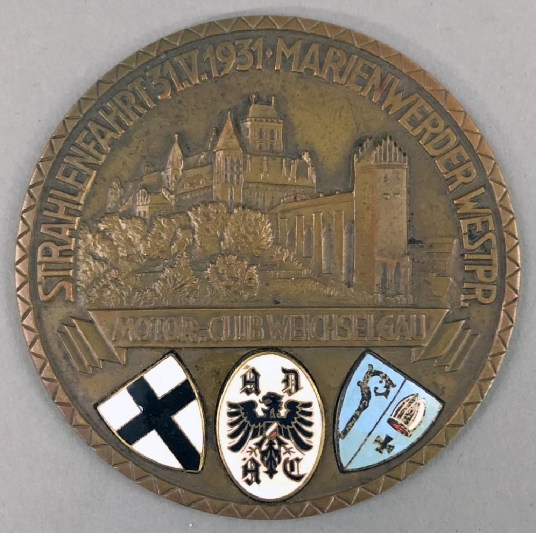 Bronze Motor Club Medallion