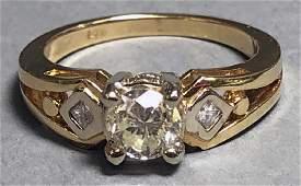 Gold and Diamond Ladies Ring