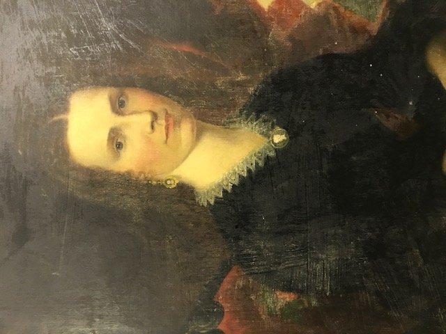 Robert Street Pair of Oil on Canvas Portraits - 10