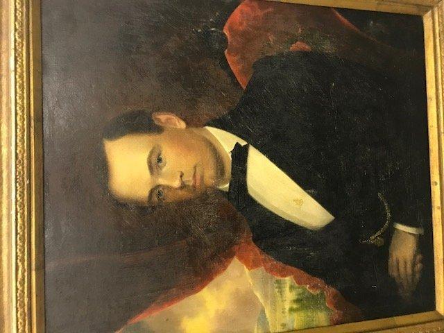 Robert Street Pair of Oil on Canvas Portraits - 11