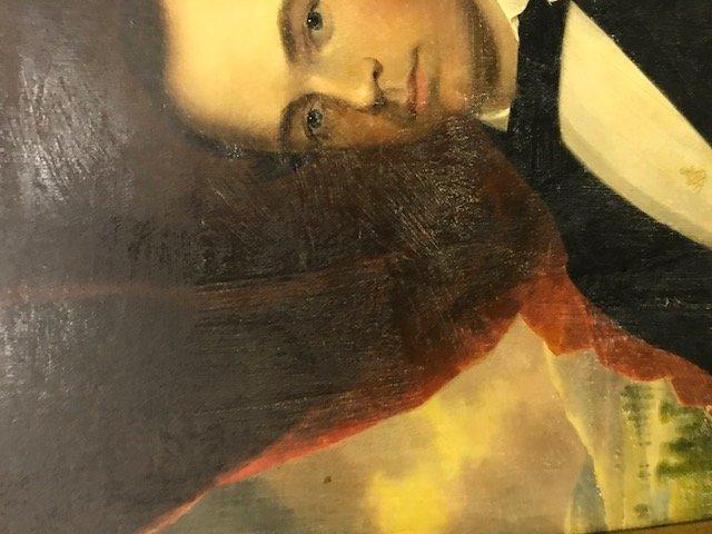 Robert Street Pair of Oil on Canvas Portraits - 13