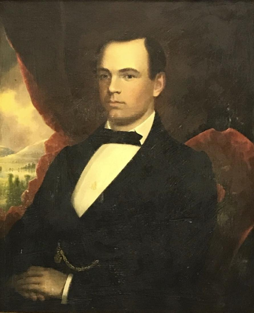 Robert Street Pair of Oil on Canvas Portraits - 2