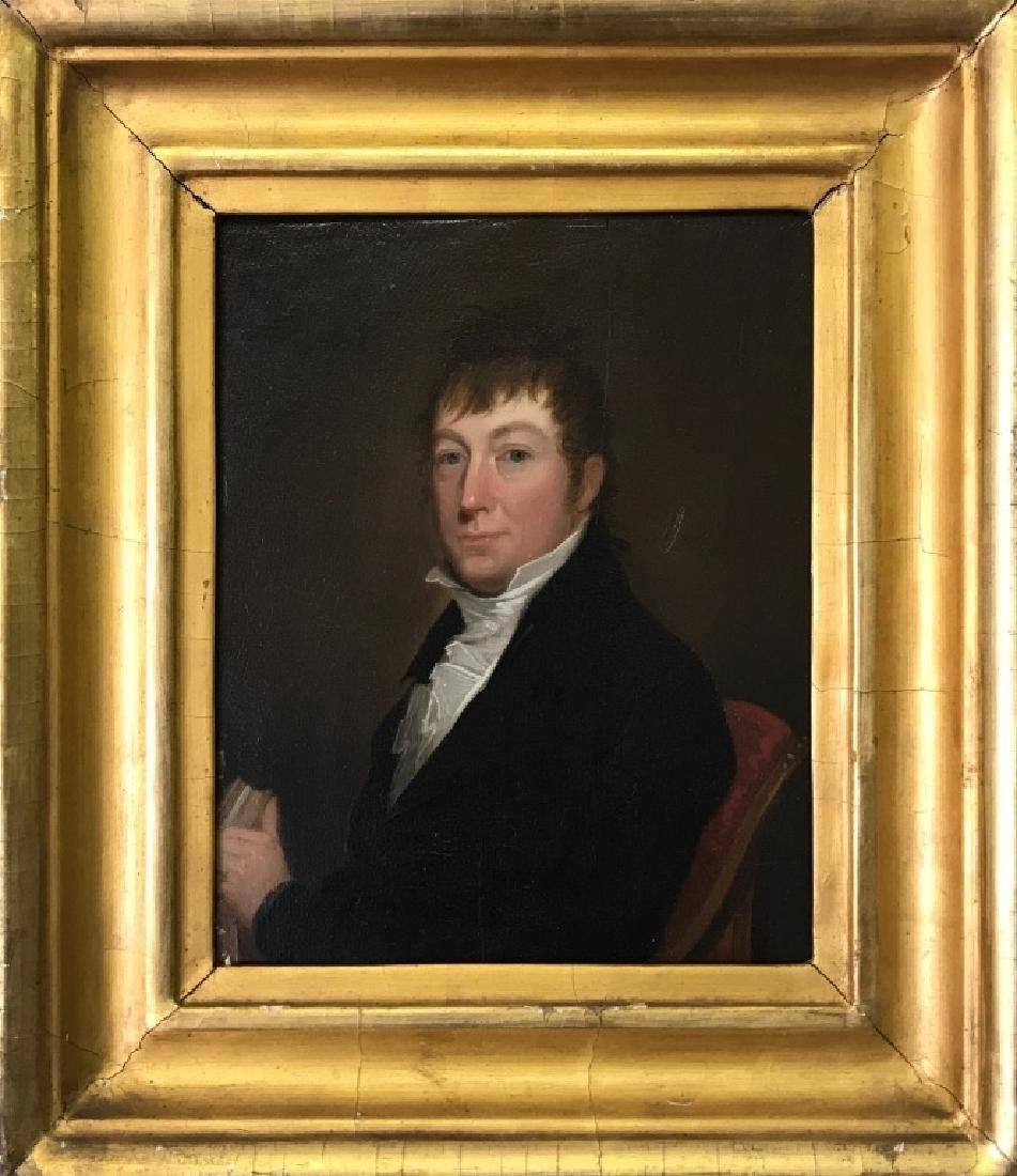 Oil on Panel Portrait of a Gentleman