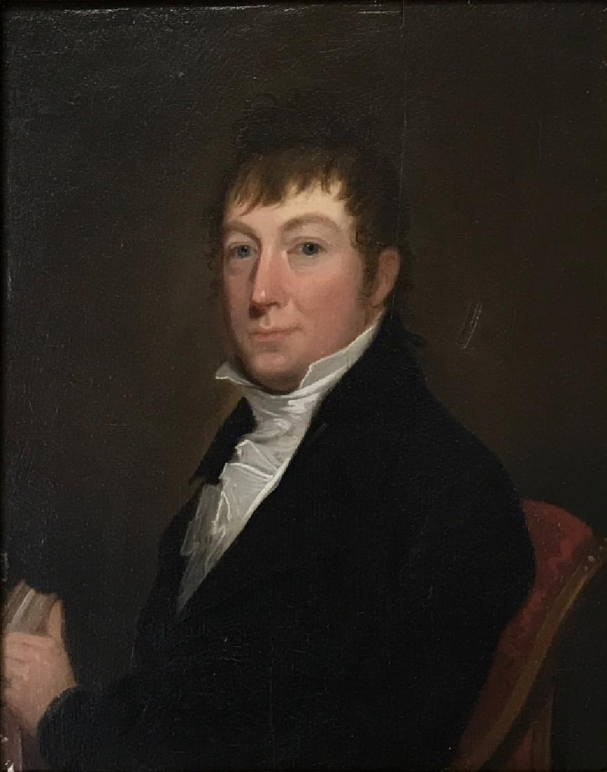 Oil on Panel Portrait of a Gentleman - 2