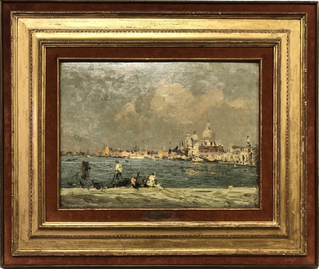 Emma Ciardi Oil on Board of Venice Waterscape