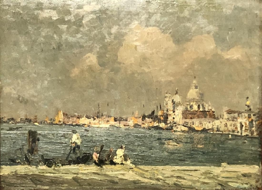 Emma Ciardi Oil on Board of Venice Waterscape - 2