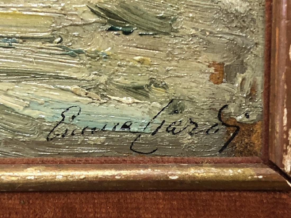 Emma Ciardi Oil on Board of Venice Waterscape - 3