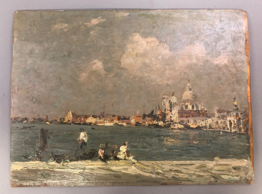 Emma Ciardi Oil on Board of Venice Waterscape - 4